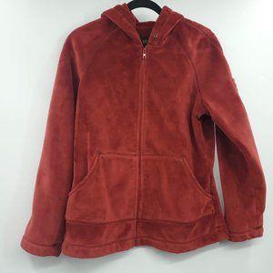 Kristen Blake Fleece Zip Up Hoodie Sweater M Red